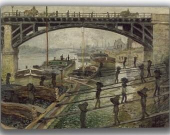 Claude Monet: The Coalmen. Fine Art Canvas. (04073)