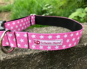 Schossier collar necklace pink star for dogs