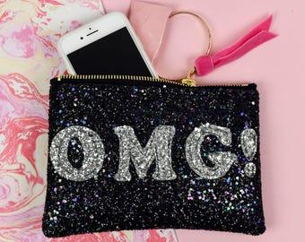 """Super Sparkly """"OMG"""" Bag"""
