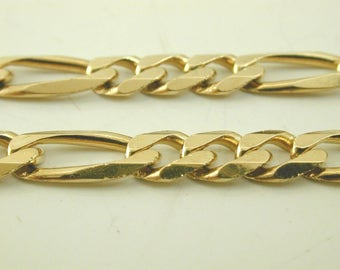 Figaro solid 9 carat gold chain necklace 16inchs long 15.8 grams