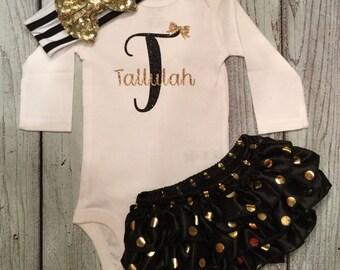 Baby Girl Onesie, Custom Name, Monogram, Bodysuit for girls