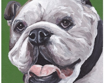 English bulldog art print from original painting