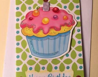 Happy Birthday Card | Thank You Card | Cupcake