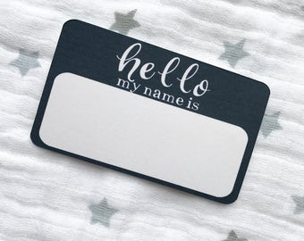 Hello My Name Is Baby Annoucement Sticker CHOOSE YOUR COLOR! Baby Sticker, Milestone Sticker, Hello My Name is, baby name reveal, gender