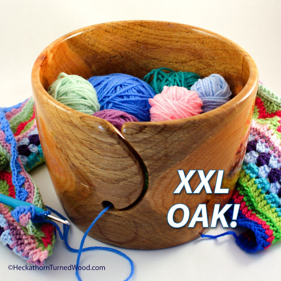 Xxl Knitting Yarn : Wood yarn bowl xxl wooden oak project