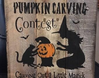 Rustic Salem Pumpkin Carving Contest (Reclaimed wood )