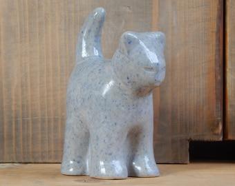 Scandinavian Vintage Ceramic Figurine Cat Retro Home Decor Hand Made Studio Pottery