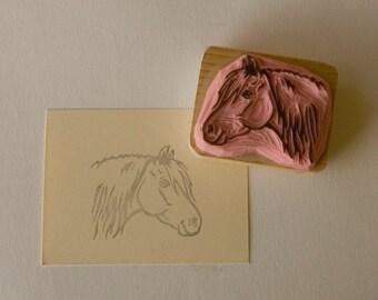 Ref. 104. Breton draught horse / Portrait de trait breton