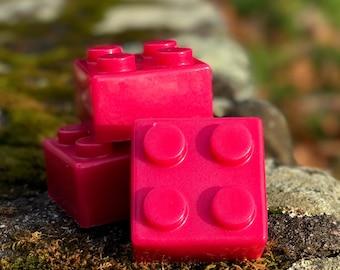 Mega Lego Pink Detergent Free Shea Butter Soap with Lavender