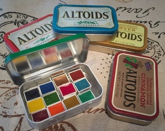 Large Size Recycled Altoid Tin (Paint pans not included) - ADDON to paint order