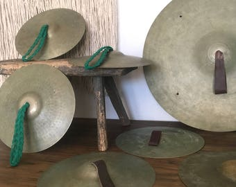 Vintage Collection of Brass Cymbals