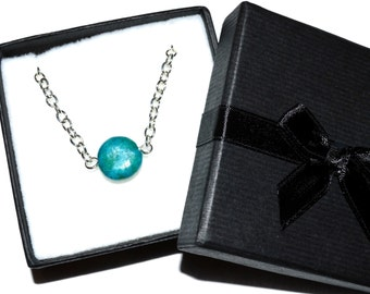 Chrysocolla bead necklace