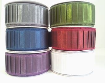 "1 1/2"" Pleated Wired Ribbon - 10 Yards"