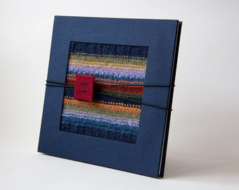Leporello photo albums, accordion album Lane-accordion, blue