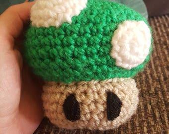 Nintendo 1up inspired crochet plush