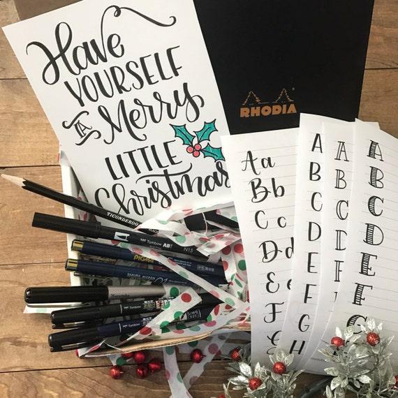 Hand lettering brush calligraphy starter kit