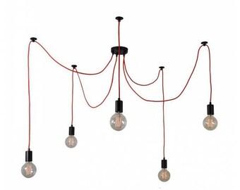 DIY Spider Swag Chandelier - 3, 4, 5, or 7 Lights