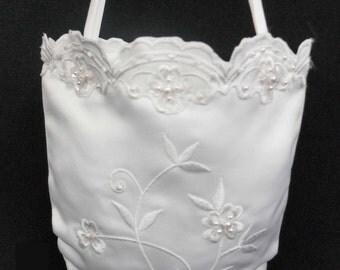 White Pearls Pattern Purse Handbag for 1st Communion Christening Wedding Bridal Flower Girl PW3