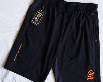 Athleticguru Sport Shorts Black with Orange logo