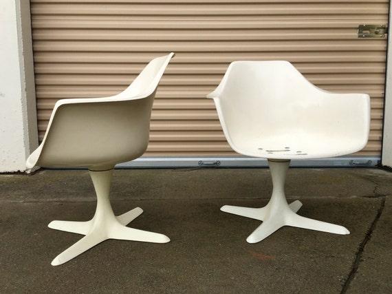 Pair of Burke propeller base chairs low version