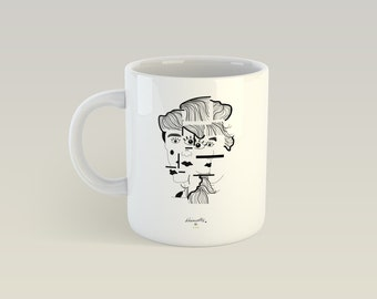 Mug - Head to the square - Cup ceramic, gift
