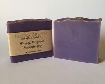 Moonlight pomegranate handcrafted soap