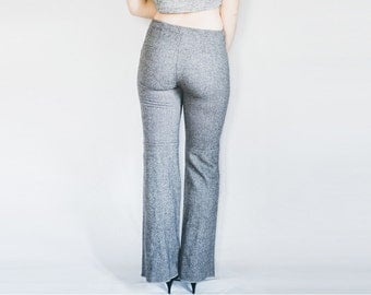 Just Cavalli Pants, 70s Wool Pants, Grey Trousers, 70s Grey Pants, Grey Wool Pants, Wool Trousers, Grey Flare Pants, 70s Flare Trousers