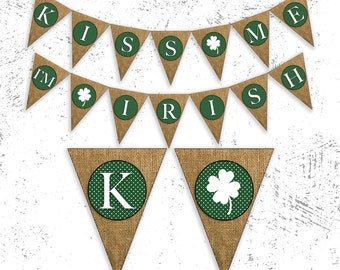 St Patty's Day Banner | Shamrock Banner | St. Patricks Day Decor | Lucky Irish Banner | Shamrock Garland | St. Patricks Day Party