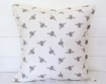 "Bees Cushion Cover 16"" 18"" 20"""