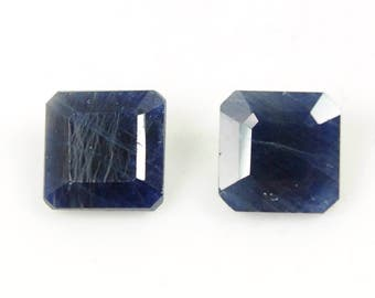 6.70cts 100% Natural Untreated Unheated Blue Sapphire Gemstone Square Normal Cut Cabochon 8mm For Jewelry Gift for Him / Her