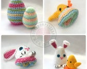 Easter Egg Flips Bunny and Chick - Crochet PDF Pattern