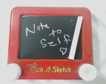 Chalkboard Travel Etch a Sketch Personal Notepad