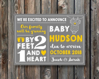 PRINTABLE Pregnancy Announcement Card–Pregnancy Announcement Sign–Pregnancy Reveal Sign-PRINTABLE Baby Announcement Sign-Pregnancy Card-PA14