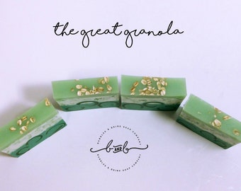 The Great Granola (Large) | Bar Soap | Green Smoothie | Glycerin | Oatmeal | Shea