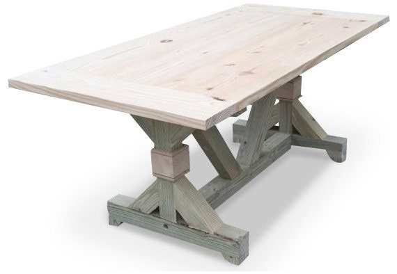 the diy fancy trestle table