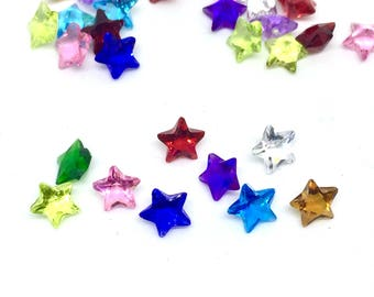 "Floating Charms, ""Star"", 5 pieces"