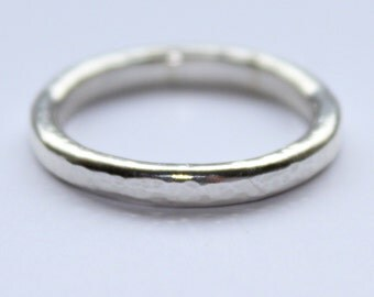 Textured Sterling Silver Ring Size M
