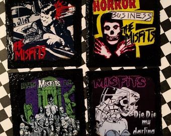 Misfits slate coaster set
