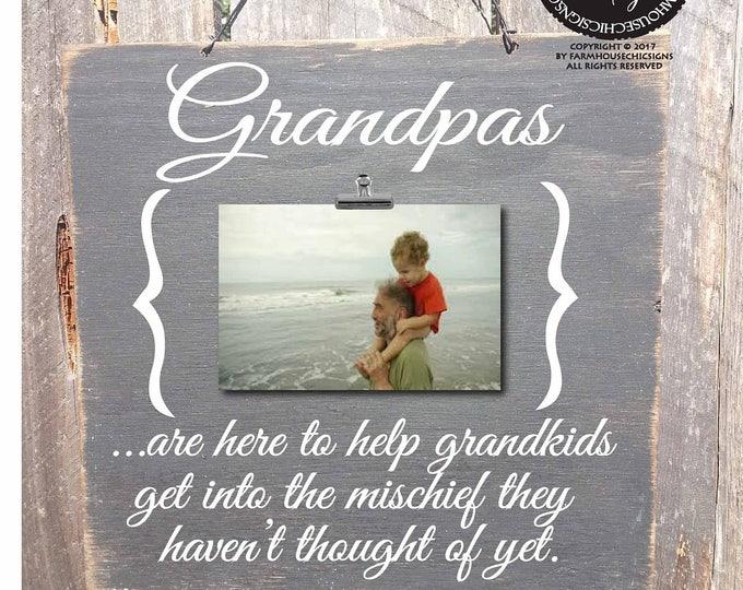 Father's Day gift, grandpa sign, grandpa frame, papa gift, papa picture frame, gift for grandpa, grandpa picture frame, grandpa saying, 123