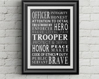 Police retirement | Etsy