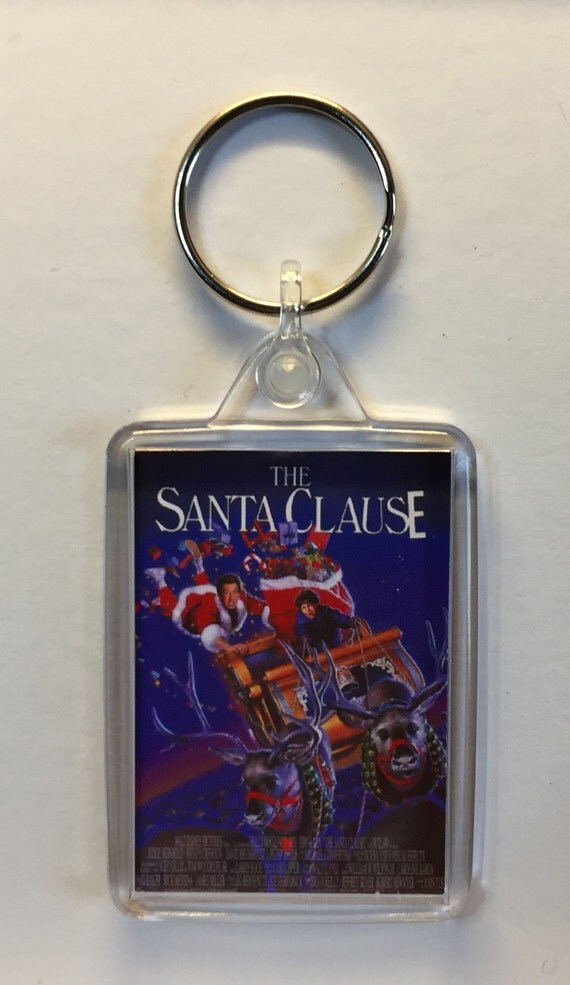 Christmas Movies Santa Claus The Movie Dudley Moore John Lithgow Keyring Keychain available in Blue Red White or Clear connectors
