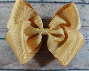 Big Gold Hair Bow. Large Gold Hair Bow. Gold Hair Bow. Toddler Large Gold Hair Bow. Gold Bow
