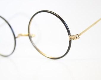 Antique Black Gold Windsor Eyeglasses