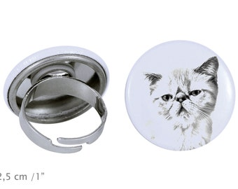 Ring with a cat - Exotic Shorthair
