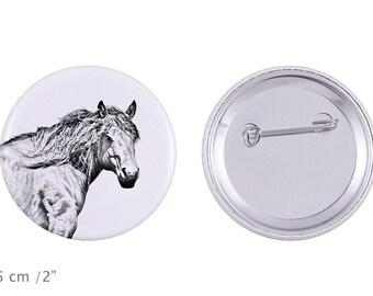 Buttons with a horse -Basque Mountain Horse