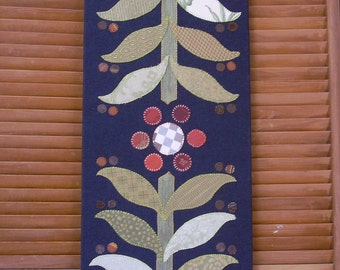 Mirrored Flora #1 Fabric Wall Art