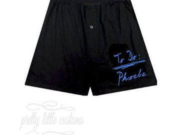 Personalised mens boxer shorts boxers - To Do:  your name - funny/joke boyfriend/husband/partner valentines day