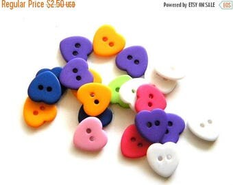 HALF PRICE 10 Heart Buttons