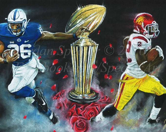 """Rose Bowl """"East vs. West"""" Limited Edition art print - 20x24 inches"""