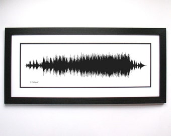 """Brad Paisley """"Today"""" Art Print, Framed Print, or Canvas - Country Music/Song Sound Wave Art, Wedding or Anniversary Gift Idea"""